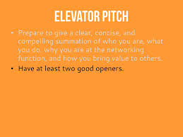 elevator pitch example i
