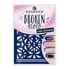 Фигурные <b>наклейки для ногтей</b> Essence <b>Broken</b> Holo Nail Sticker в ...