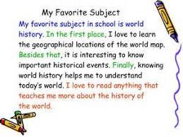 essay favourite subject english