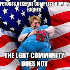 Fetuses deserve complete human rights The LGBT community does not ... via Relatably.com