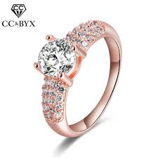 Online Shop Fine <b>Rose Gold</b> Color Rings for Women Trendy ...