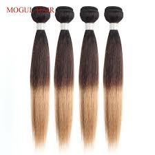 <b>MOGUL HAIR Indian Human</b> Hair Ombre Straight Hair Weave ...