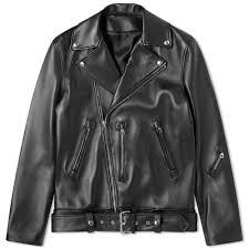 Acne Studios Nate <b>Clean Leather</b> Jacket <b>Black</b>   END.