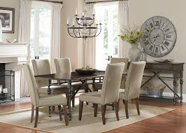 dining table parson chairs interior: black chandelier with parson dining chairs by paula