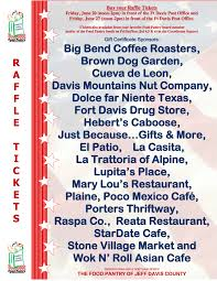 food pantry of jeff davis county 2014 coolest fourth bake 2014 raffle poster