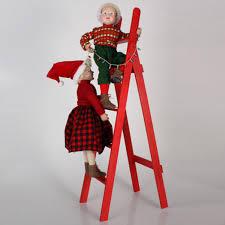 "36"" Whimsical Kids Hanging <b>Lights</b> on <b>Red Ladder Christmas</b> ..."