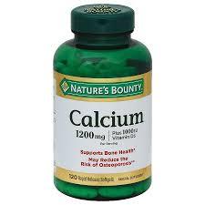 Nature's Bounty <b>Calcium</b> 1200 mg plus Vitamin D3 1000 IU Dietary ...