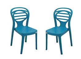 Supreme Oak <b>armless</b> Plastic Chair, Oxford Blue, <b>2 pcs</b>.: Amazon.in ...