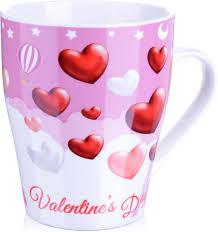 "<b>Кружка Loraine</b> ""<b>Любовь</b>"", цвет: белый, красный, розовый, <b>340</b> мл"