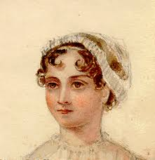 Watercolor portrait of Jane Austen (?) laid into the University of Pennsylvania's copy of. Jane Austen, Emma (London 1816) ... - Jane-austen-portrait
