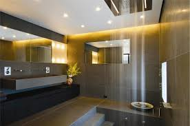 modern bathroom lighting ideas in exceptional futuristic rainfall shower design also long wall hung sink beautiful bathroom lighting ideas