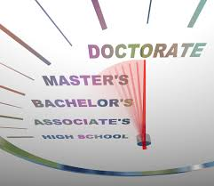 doctor who title inflation and the doctorates that separate us a speedometer shows the various levels of college degrees