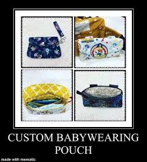Custom <b>Baby Carrier</b> POUCH Out and About <b>Waist</b> Bag | Etsy