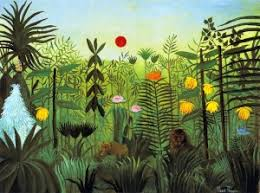 <b>Exotic Landscape</b> with Lion and Lioness in Africa - <b>Henri Rousseau</b> ...