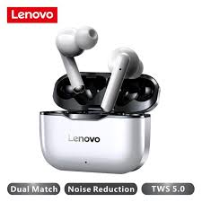 <b>Lenovo LP1 Wireless</b> Earphone <b>Bluetooth</b> 5.0 Dual Stereo Noise ...