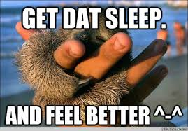 Get dat sleep. and feel better ^-^ - cute baby sloth - quickmeme via Relatably.com