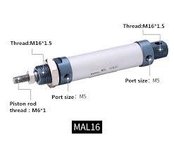 <b>Freeshipping Aluminum</b> alloy Pneumatic cylinder <b>MAL</b> 16mm bore ...