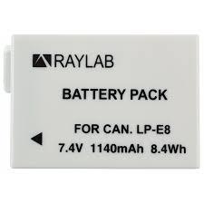 <b>Аккумулятор Raylab RL-LPE8</b> 1140мАч (для EOS 600D, 650D, 700D)