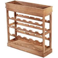 HOMFA <b>Wine Rack</b> 24 Bottles Holder <b>Wooden</b> Wine Cabinet ...