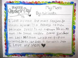 teaching love and laughter mother s day writing and two here is a second grade essay