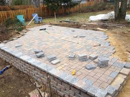 wall block patio
