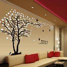 New arrival Lovers tree Acrylic crystal <b>wall stickers</b> DIY <b>art</b> wall decor ...