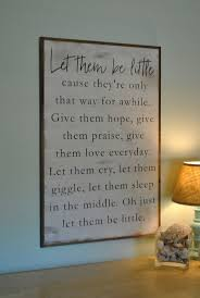 chic large wall decorations living room: be little x kids sign distressed shabby chic painted wooden