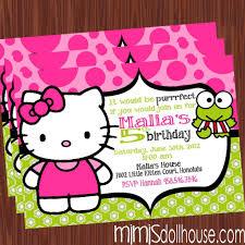 printable hello kitty birthday party invitations drevio frog hello kitty birthday invitations
