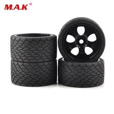 <b>4pc</b>/<b>set</b> 17mm Hex <b>1:8 RC</b> monster trucks on road wheels 139mm ...