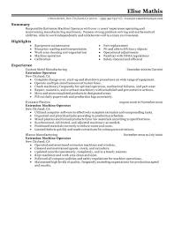 best extrusion operator resume example livecareer choose