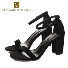 <b>KATELVADI Shoes Women</b> Black Gladiator <b>Sandals Women</b> ...