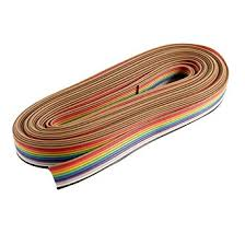 KTC CONS Labs 5 Meter 10 Core <b>Rainbow Color</b> Flat <b>Ribbon</b> Wire ...