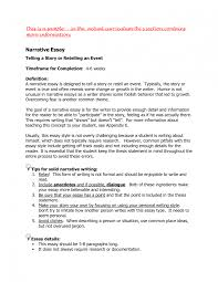 college essay examples an example of narrative essay
