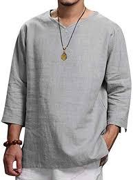 Stoota Men's <b>Summer New</b> Hemp Top Comfortable Fashion ...