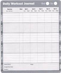 6 best images of printable exercise logs journals printable workout log template