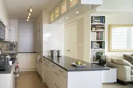 Modular Kitchen In Small Space Modern Apartment Kitchen Designs Black Countertops And Yellow