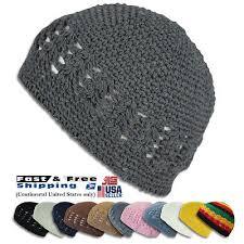 KUFI Crochet <b>Beanie Unisex Cotton</b> Skull Cap Knit Hat Man Women ...