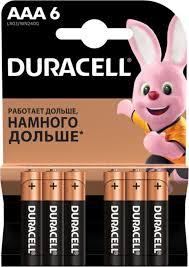 <b>Батарейки</b> щелочные <b>Duracell</b> Basic ААA/LR03-6BL 6 штук ...