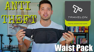 Travelon ANTI-THEFT <b>Classic</b> Light Slim <b>Waist Pack</b> - YouTube