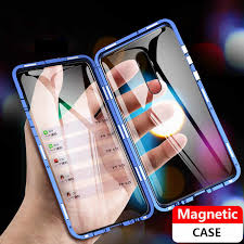 <b>360 Metal Magnetic</b> Adsorption Case Cover For Xiaomi Redmi note ...