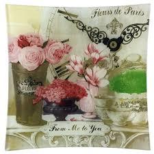 Gift'n'<b>Home Тарелка</b> Парижские цветы 20х20 см — купить по ...