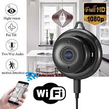 <b>1080P WIFI Mini</b> Camera Time Alarm Wireless Nanny Clock P2P <b>IP</b> ...