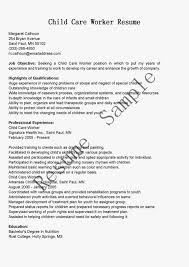 sample resume for daycare worker