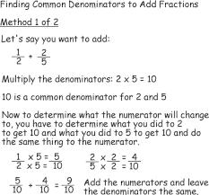 Common denominators and Adding Fractions