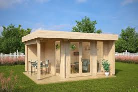 garden office garden room mini hansa lounge 9m2 44mm 3 x 3 m big garden office ian