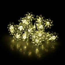 Solar 20LEDs <b>String</b> Lights <b>Lotus Flower</b> Vine Ball <b>Fairy</b> Lamp for ...