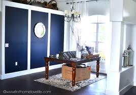 blue accent wall dining room makeover making progress first home love life blue office walls
