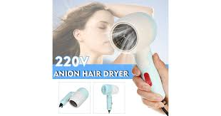 110V/220V Foldable <b>Anion Hair Dryer 1200W</b> Hot and Cold Air Low ...