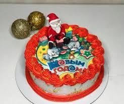 Заказ тортов на Новый год от 1 кг, недорого с доставкой по СПб