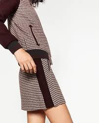 Image 5 de JUPE EN <b>PIED DE</b> POULE de Zara | <b>Юбка</b>